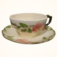 Vintage Franciscan Desert Rose Cup & Saucer Set of 8