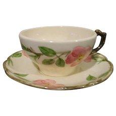 Vintage Franciscan Desert Rose Cup & Saucer Set of 8