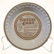 Vintage Royal China Jeannette Deep Dish Ironstone Cheesecake Recipe Dish
