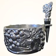 Arthur Court Grape Wine Caddy with Stopper