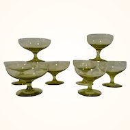 Russel Wright American Modern Chartreuse Sherbet Coupes & Cordials