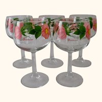 "Franciscan Desert Rose All Purpose Stemware 6 1/2"" (Set of 5)"