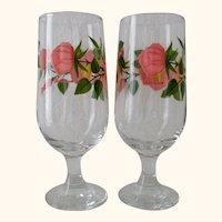 Franciscan Desert Rose 12 oz. Iced Tea Stemware (Set of 2)