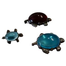 SHOP CLOSING 05/31/20: Trio of Jelly Belly Turtle Scatter Pins