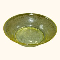 Hazel Atlas Florentine Yellow Poppy #2 Serving Bowl 8""