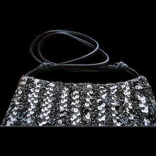 Vintage Lined Beaded Evening Bag