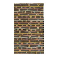 Vintage Turkish Wool Kilim, 8' X 13'4""