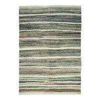"Vintage Turkish Rag Rug, 5'9"" x 8'"