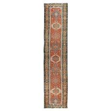 """Vintage Persian Heriz Runner, 3'2"""" x 14'3"""""""