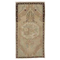 Vintage Turkish Yastik Rug, 1'10 x 3'5