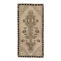 Vintage Turkish Yastik Rug, 1′7″ × 3′2″