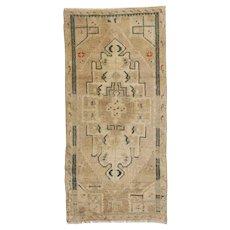 Vintage Turkish Yastik Rug, 1'8 x 3'6