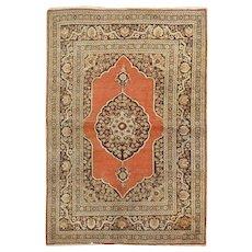 "Antique Tabriz Rug,circa 1900  4'2"" x 5'11"""