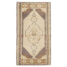 Vintage Turkish Yastik Rug, 1'9 x 3'2