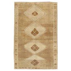Vintage Turkish Kars Rug Carpet 6'8 X 10'9