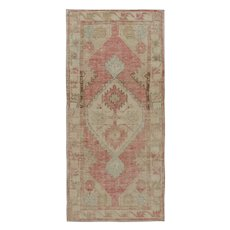 Vintage Distressed Oushak Rug, 2'8 x 5'7