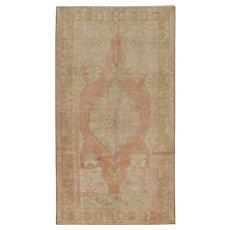 Vintage Turkish Oushak Rug, 4'4 x 7'11