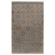 Vintage Persian Jajim Flat Weave Rug, 6'4 x 10'5