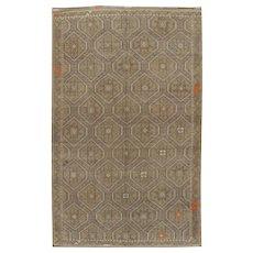 Vintage Persian Jajim Flat Weave Rug, 6' x 9'7