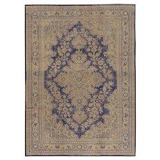 Vintage Lightly Distressed Turkish Oushak rug, 6'7 x 9'4