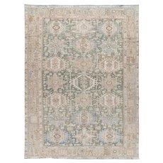 Vintage Persian Heriz Rug, 8'5 x 11'5
