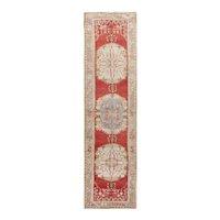 Vintage Turkish Oushak Runner Rug, 2'11 x 11'