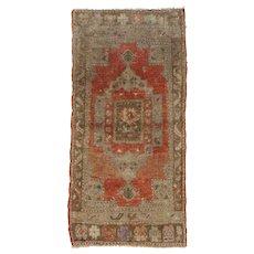 """Vintage Turkish Yastik Rug, 1'7"""" x 3'3"""""""