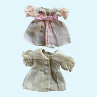 Two Darling Dresses for Tiny French German Bisque