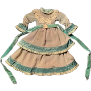 Silk Taffeta Doll Dress for Small French German Bisque China