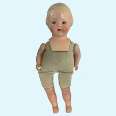 """Vintage 1940's 17"""" Century Compo Cloth Doll to Restore"""