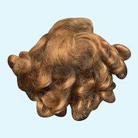 Vintage Light Brown Saran Doll Wig