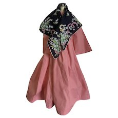 Cotton Dress with Shawl for China Doll