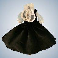Stylish Black Velvet Dress by Robert Tonner for Tiny Kitty Collier