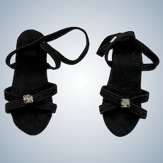 Black Strappy Heels for Small Fashion Doll