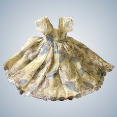 Delicately Beautiful Vintage Organdy Dress for Tiny Doll
