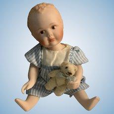 Richard Simmons Tiny Bisque Baby Boy Jeffrey by Maree Massey for Goebel NIB