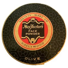 Max Factor Face Powder Society Make-Up Hollywood Olive Unopened