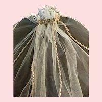 Beautiful Veil of Softest Ecru Tulle