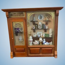 Reutter Original German Miniature Antique Shop Full of Porcelain is a Delight!