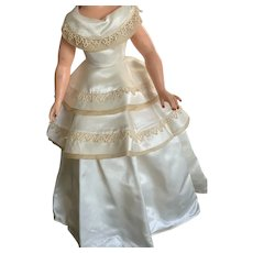 """Luscious Vintage Satin Gown for Cissy or Other 19"""" Fashion Doll"""
