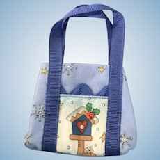 Colorful Cloth Purse/Satchel for Small Dolls Ginny, Betsy, Riley
