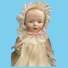 """7.5"""" German Kestner Mold Bisque Artist Doll Exquisitely Dressed"""