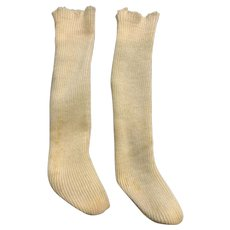 "Vintage Combed Cotton Tall Doll Socks / Stockings for 2"" Foot"