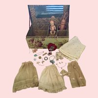 Vintage Rose Chest for Doll Collectors
