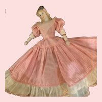 Vintage Gingham Dress for Tiny China Head Doll (Doll Not Included)