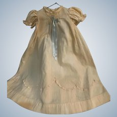 Vintage Cotton Doll (not baby!) Gown & Slip for French German Bisque is Very Hard To Find