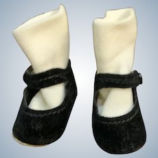 "Vintage 1980's Madame Alexander 12"" Little Women Original Black Mary Jane Snap Shoes and Socks"