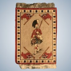 "Scotsman Flannel Fringed Doll House Rug or Tapestry 3"" x 5"""