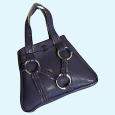 Smart Navy Leather Purse by Madame Alexander for Cissette Doll