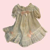 "Vintage Sheer Cotton Organdy Dress for 16""-18"" Doll"